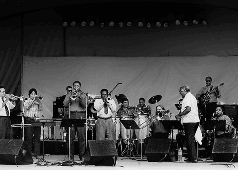 Dizzy Gillespie jazz band tribute