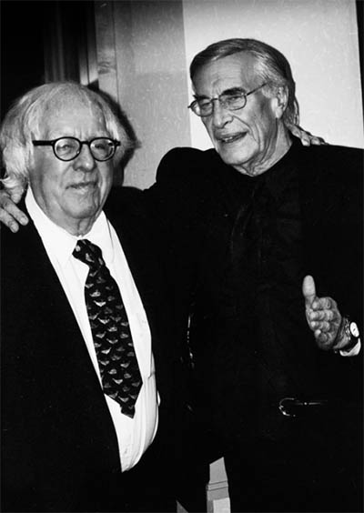 Ray Bradbury and Martin Landau